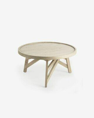Mesa de centro Tenda madera maciza de mindi Ø 81 cm