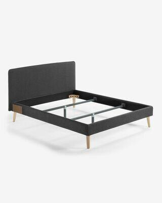 Funda cama Dyla colchón grafito 150 x 190 cm