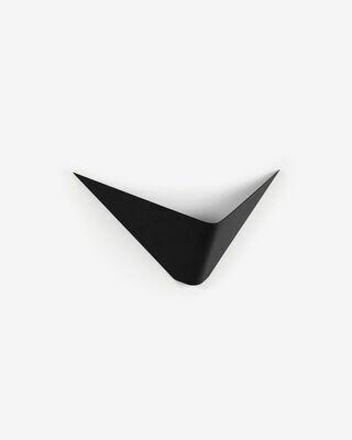 Aplique Ginebra de acero con acabado negro