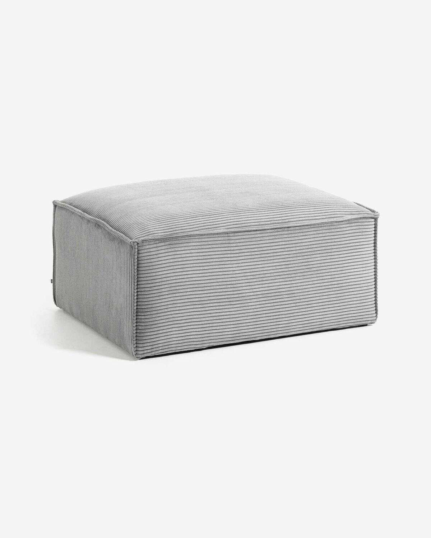 Reposapiés Blok 90 x 70 cm pana gris