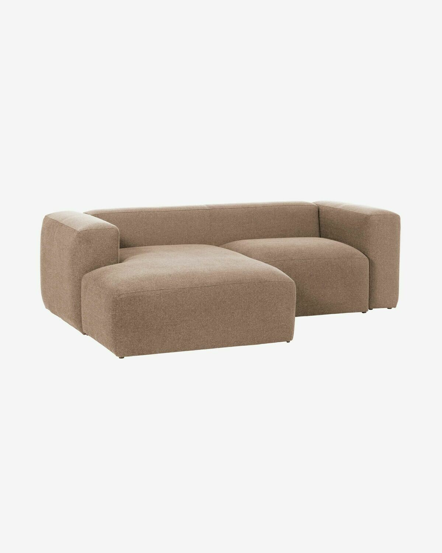Sofá Blok 2 plazas chaise longue izquierdo rosa 240 cm