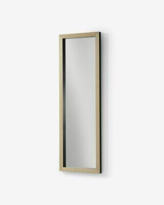 Espejo Enzo de madera maciza de ayous 48 x 148 cm negro