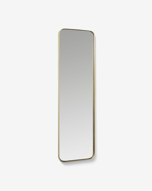 Espejo Marco de acero 30 x 100 cm dorado