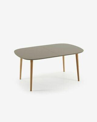 Mesa extensible Oqui marrón 160 (260) x 100 cm
