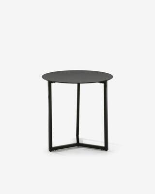Mesa auxiliar Raeam Ø 50 cm negro