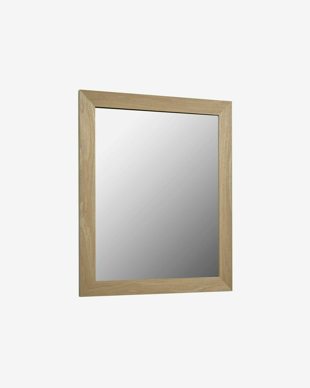 Espejo Wilany 47 x 57,5 cm con acabado natural
