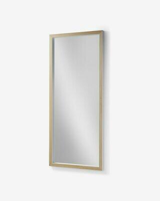 Espejo Enzo de madera maciza de ayous 78 x 178 cm blanco