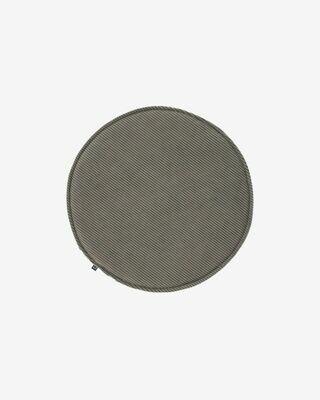 Cojín para silla redondo Sora pana gris Ø 35 cm