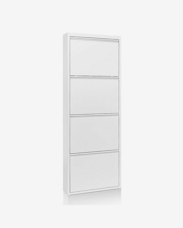Zapatero Ode 50 x 136 cm 4 puertas blanco