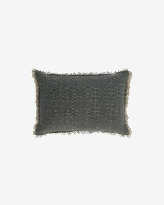 Funda cojín Camily 30 x 50 cm gris oscuro
