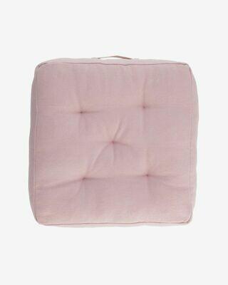 Cojín para suelo Sarit 100% algodón rosa 60 x 60 cm
