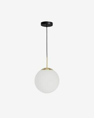 Lámpara de techo Mahala de acero y cristal glaseado