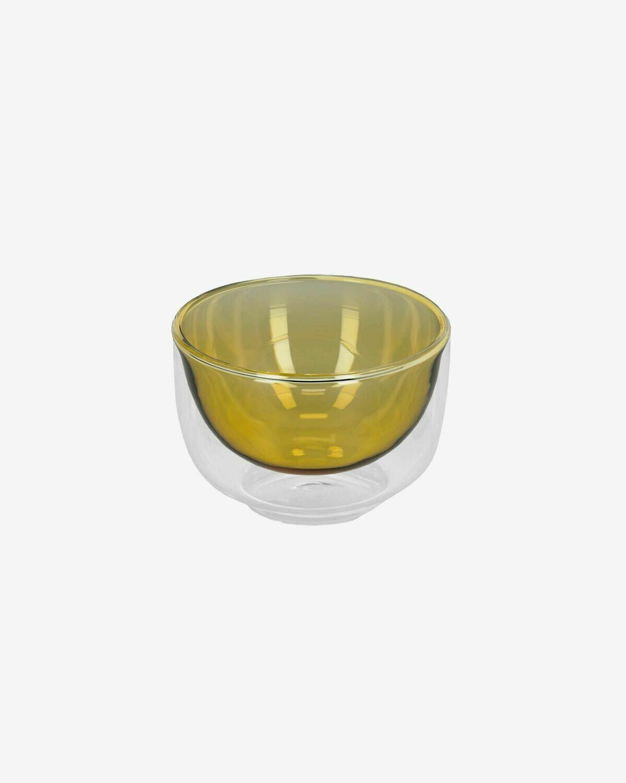 Bol Braulia de cristal amarillo y transparente