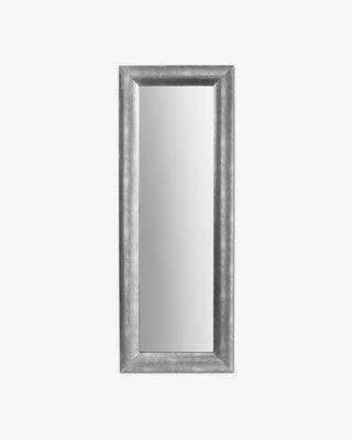 Espejo Misty de madera maciza de ayous 59 x 159 cm plata