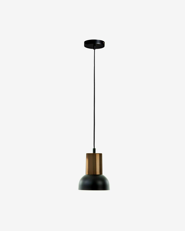 Lámpara de techo Amina de metal y níquel