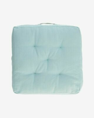 Cojín para suelo Sarit 100% algodón azul 60 x 60 cm