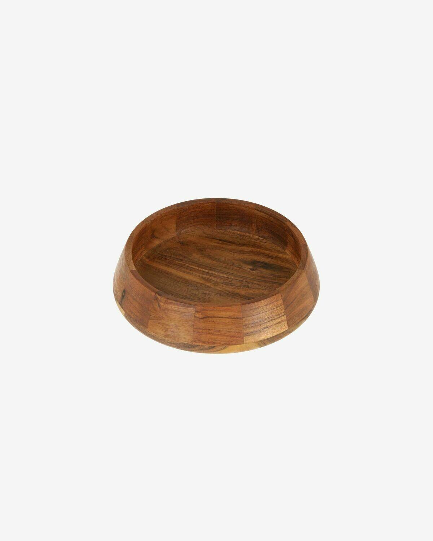 Bol Yanila pequeño madera maciza acacia