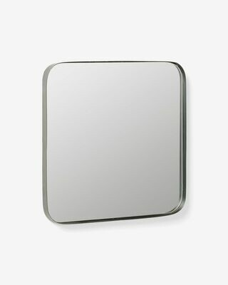 Espejo Marco de acero 40 x 40 cm negro