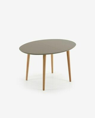 Mesa extensible oval Oqui marrón 120 (200) x 90 cm