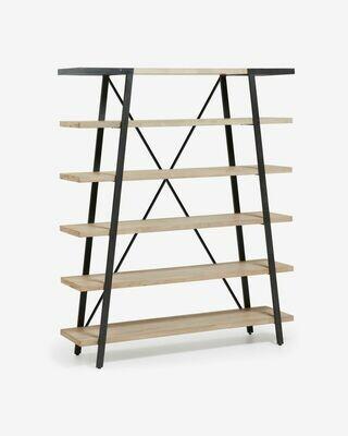 Estantería Thinh 150 x 180 cm de madera maciza de acacia