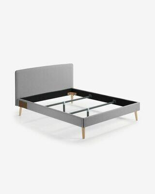 Funda cama Dyla colchón gris 160 x 200 cm