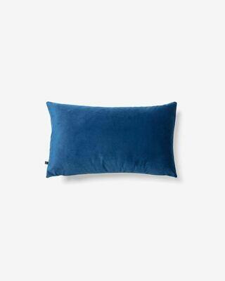 Funda cojín Lita 30 x 50 cm terciopelo azul