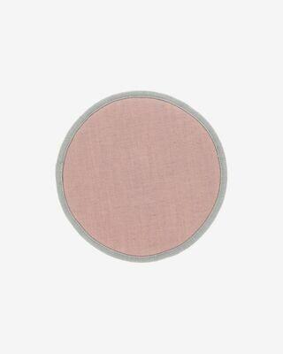 Cojín para silla redondo Prisca rosa Ø 35 cm