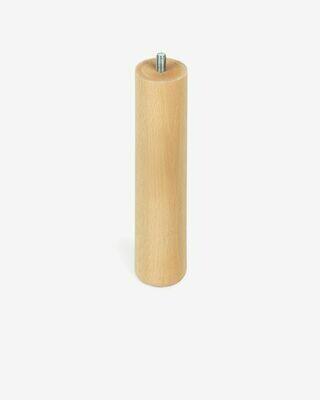 Pata somier S de madera de haya con acabado natural