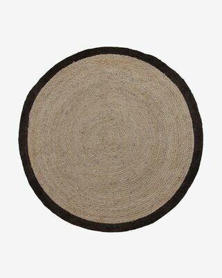 Alfombra Saht Ø 200 cm beige y negro