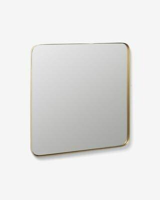 Espejo Marco de acero 60 x 60 cm dorado