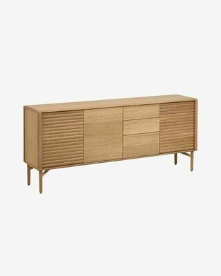 Aparador Lenon 200 x 86 cm de madera maciza y chapa de roble