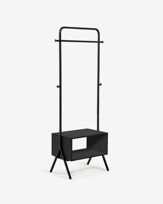 Perchero Bently acero negro 74 x 180 cm