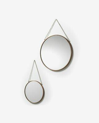 Set Icon de 2 espejos de acero Ø 41 cm / Ø 26 cm