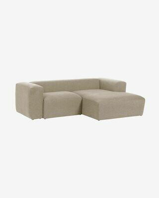 Sofá Blok 2 plazas chaise longue derecho beige 240 cm