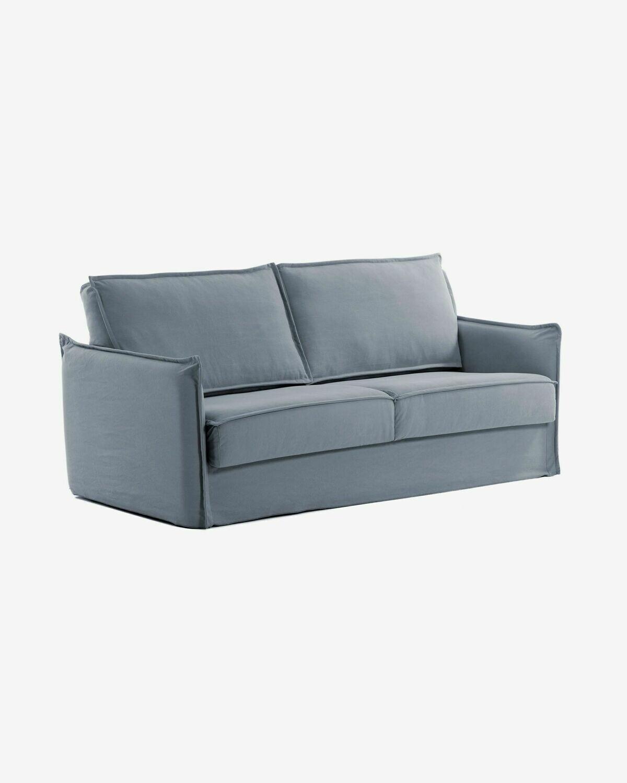 Sofá cama Samsa 140 cm poliuretano azul