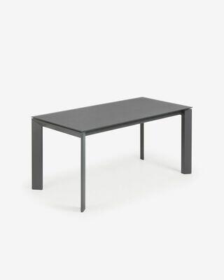 Mesa extensible Axis 160 (220) cm cristal gris patas grafito