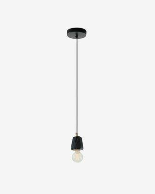 Lámpara de techo Bray de mármol negro