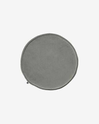 Cojín para silla redondo Rimca terciopelo gris claro Ø 35 cm