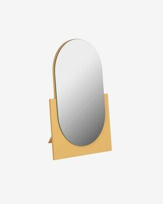 Espejo Mica 17 x 25 cm mostaza