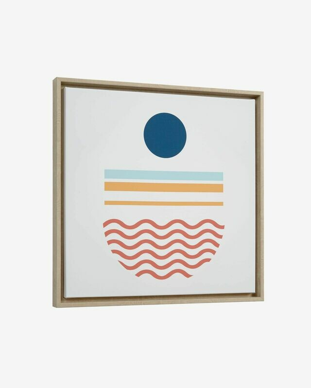 Cuadro Gelsina 50 x 50 cm redonda azul