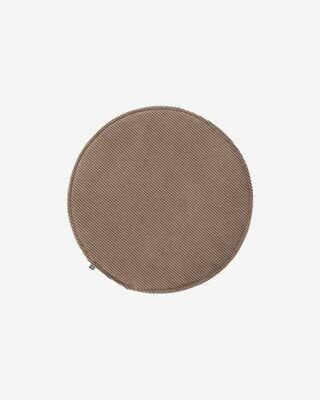Cojín para silla redondo Sora pana marrón Ø 35 cm