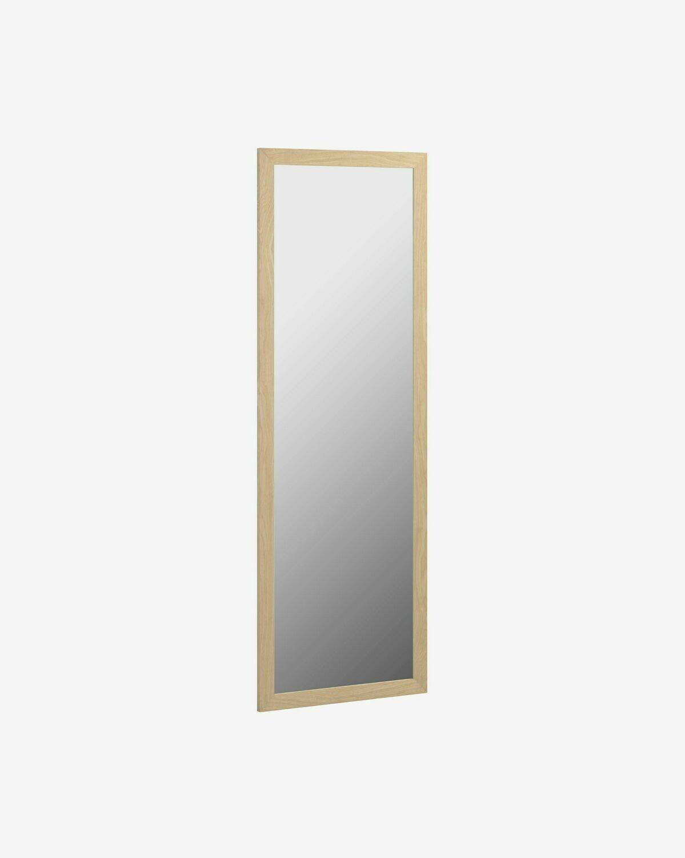 Espejo Wilany 52,5 x 152,5 cm marco ancho con acabado natural