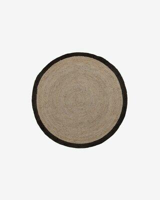 Alfombra Saht Ø 150 cm beige y negro