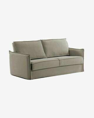 Sofá cama Samsa 140 cm poliuretano beige