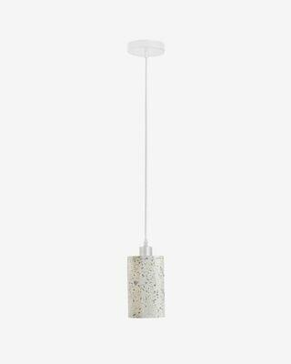 Lámpara de techo redonda Analia de cemento con acabado terrazzo
