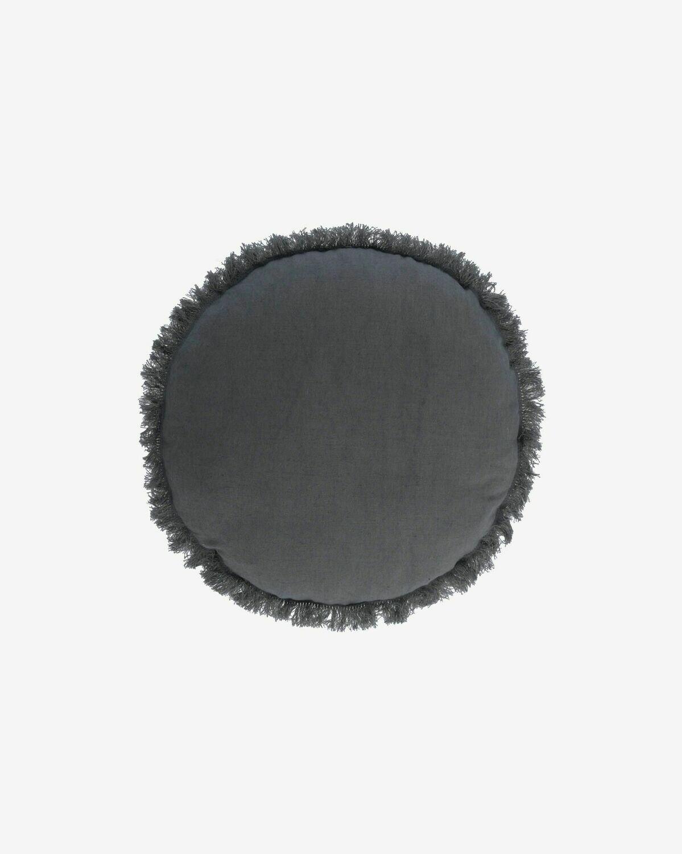 Funda cojín Clarice Ø 45 cm azul