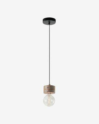 Lámpara de techo Allie de madera maciza de mango 13 cm