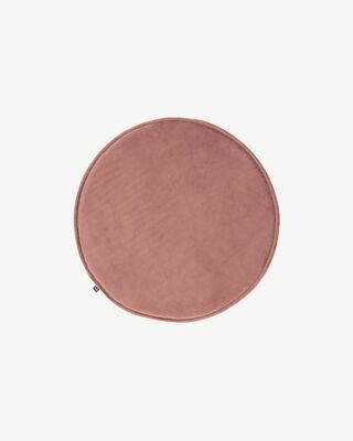 Cojín para silla redondo Rimca terciopelo rosa Ø 35 cm