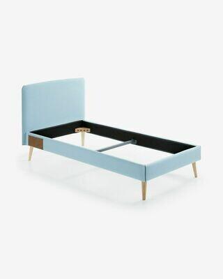 Funda cama Dyla colchón azul claro 90 x 190 cm