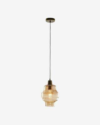 Lámpara de techo Covell de cristal glaseado